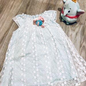 Catherine Malandrino Mini Dress Ice Blue Lace